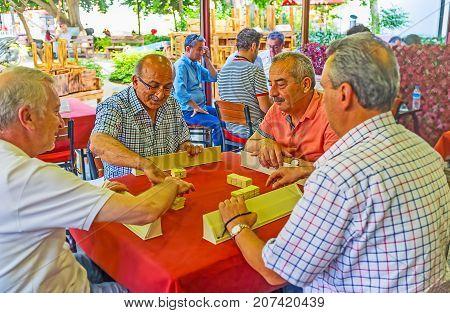 Okey Players In Antalya Tea House