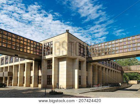 Dresden Germany - August 4 2017 Modern architecture in Dresden