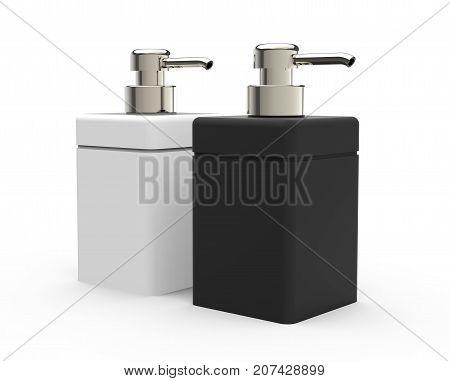 Black White Cosmetic Bottle