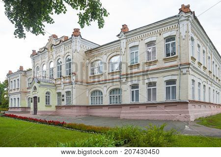 Krolevets, Sumy region, Ukraine, AUGUST  15, 2013: Secondary school in the town of Krolevets