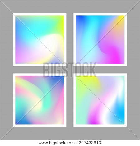 abstract vector set of fluid colors background