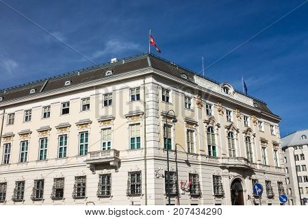 Federal Chancellery of Austria office of chancellor of Austria located on Ballhausplatz