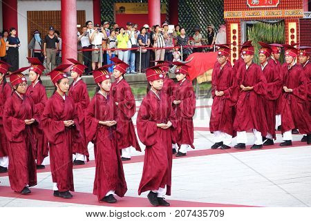 Confucius Ceremony At The Kaohsiung Confucius Temple