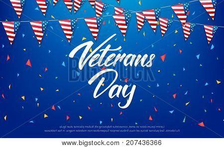 Veterans Day. Banner for USA Veterans Day celebration