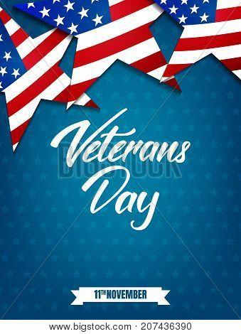 Veterans Day. Poster for USA Veterans Day celebration