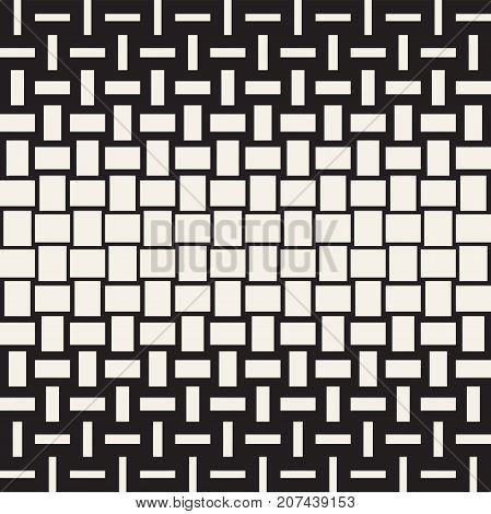 Vector Seamless Geometric Pattern. Halftone gradient stylish color transition. Woven Lines Simple Lattice