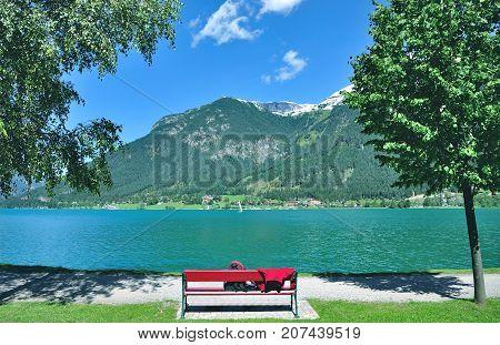 idyllic Place at Lake Achensee in Tirol,Austria