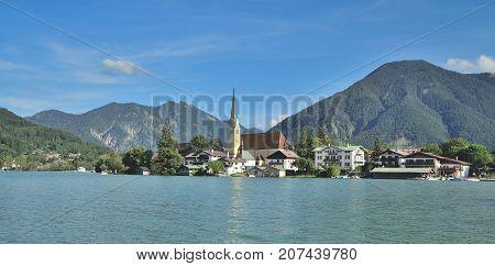 idyllic Village of Rottach-Egern at Lake Tegernsee,upper Bavaria,Germany
