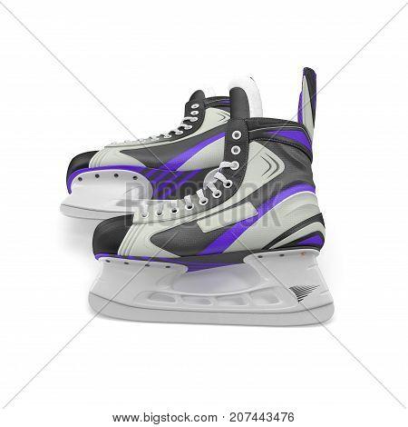 Ice hockey skates, isolated on white background. 3D illustration