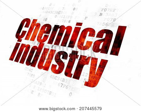 Industry concept: Pixelated red text Chemical Industry on Digital background