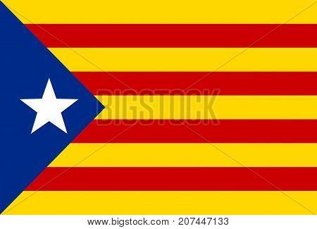 Catalonia or Catalunya national flag. Vector illustration.