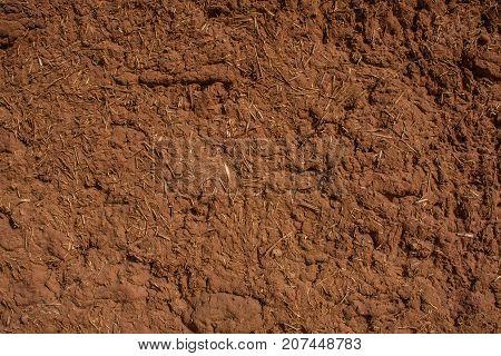 A fragment of a wall of a traditional mud house, Riyadh Province, Saudi Arabia