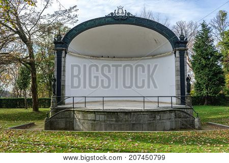 Small theatre in Crystal Palace Gardens public park in Porto Portugal
