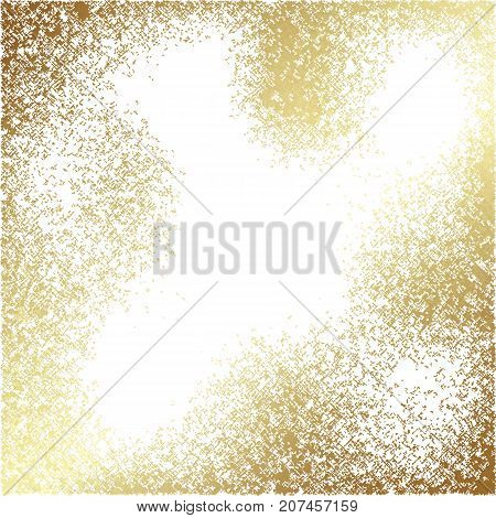 Vector abstract gold texture square background. Patina effect