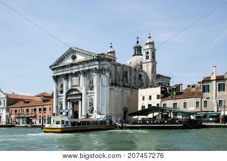 The Church of I Gesuati Sta Maria del Rosario on the Zattere in Venice