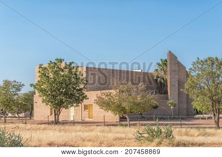 KOES - JULY 5 2017: The Dutch Reformed Church in Koes a small town in the Karas Region in Namibia