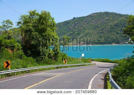 Road in mountains - Phuket island near Ya Nui beach
