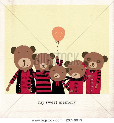 My Sweet Memory. A group of Lovely Bear.