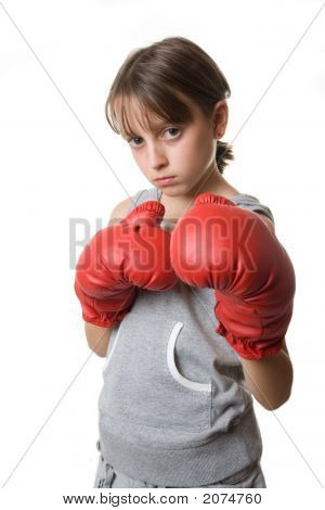 Young Teen Boxing