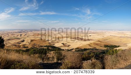 Panoramic view of the Palouse are of Washington state