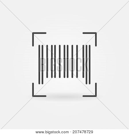 Vector barcode concept outline icon or symbol