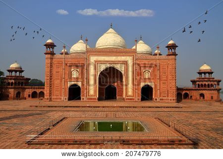 Mausoleum next to Taj Mahal Agra Uttar Pradesh India