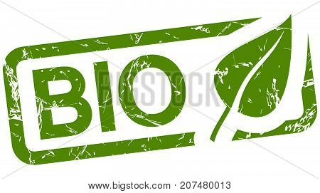 Green Stamp With Text Bio
