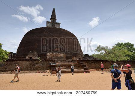 The palace ruins of Polonnaruwa in Sri Lanka, 04. August 2017