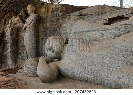 The Buddhas of Polonnaruwa in Sri Lanka