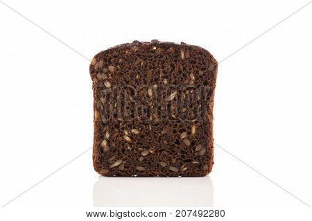 Black Bread Slice Isolated