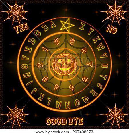 Ouija talking board with a Halloween design