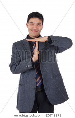 Attractive Nepalese Businessman, Time-out