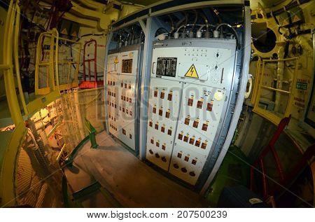 Bunker for launch SS-18 Satan team.Museum of Soviet Strategic Nuclear Forces..POBUGSKOE, UKRAINE - September 2, 2017