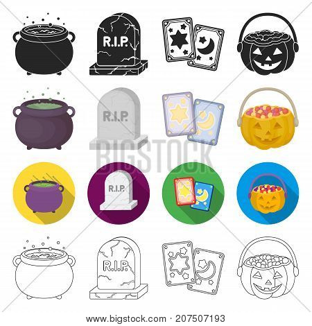 extrasensory, celebration, mysticism and other  icon in different style. holiday, halloween, magic, icons in set collection