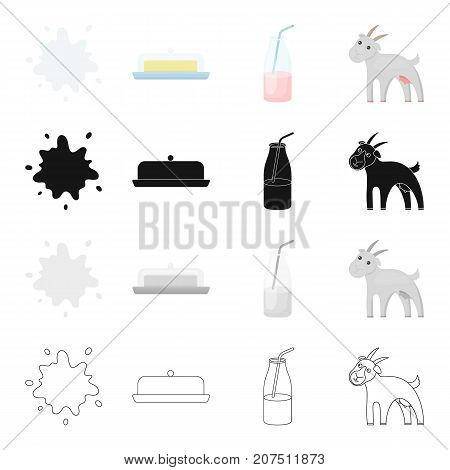 Farm, Industry, Food and other  icon in cartoon style. Wool, animal, home icons in set collection.