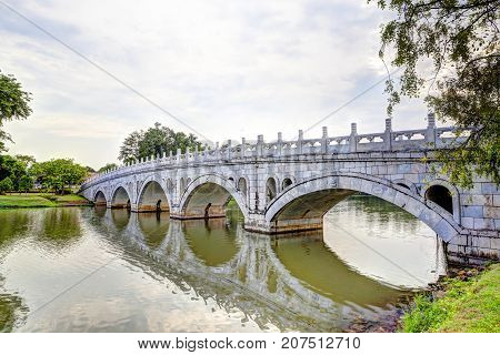 The Double Beauty Bridge connects the Chinese Garden and the Japanese Garden in Singapore two free public parks collectively known as Jurong Lake Gardens. The gardens are popular among exercise enthusiasts bird watchers and nature lovers.