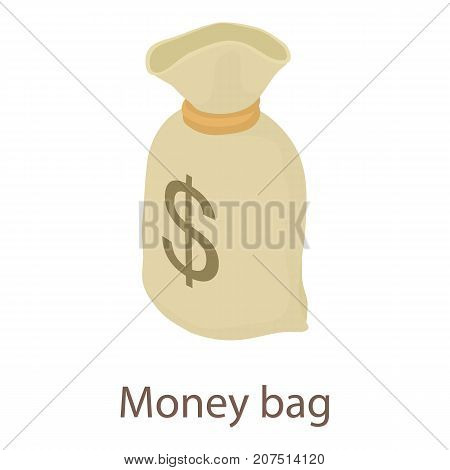 Money bag icon. Isometric illustration of money bag icon for web