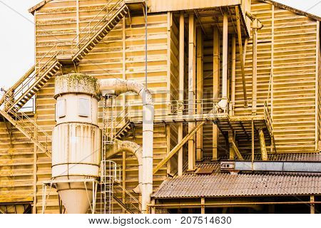 Granary. Storage for a large volume of grain.