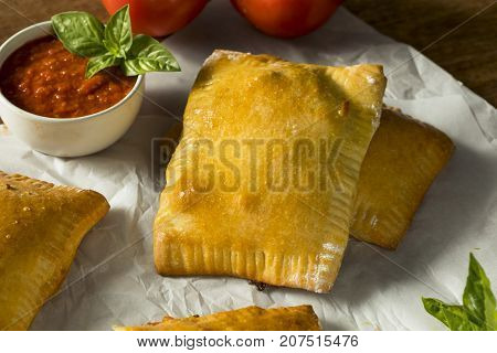 Homemade Sausage Pizza Pocket Calzone