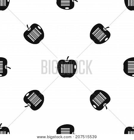 Code to represent product identification pattern repeat seamless in black color for any design. Vector geometric illustration