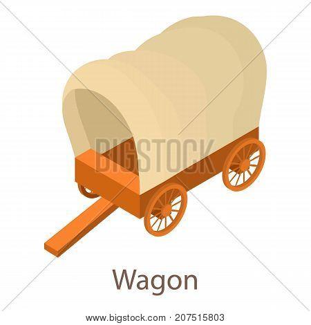 Wagon icon. Isometric illustration of wagon icon for web