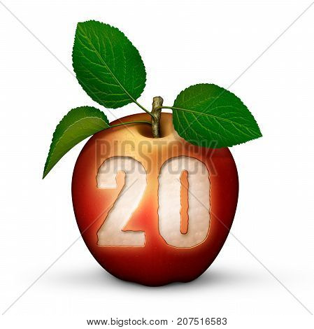 Apple With Number 20