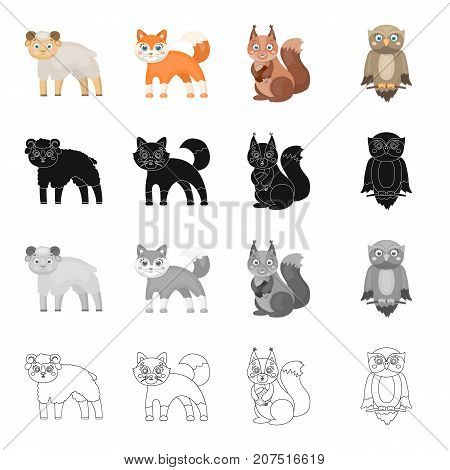 Animals, wild, domestic, and other  icon in cartoon style.Sheep, wool, fur icons in set collection