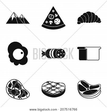 Despatch office icons set. Simple set of 9 despatch office vector icons for web isolated on white background