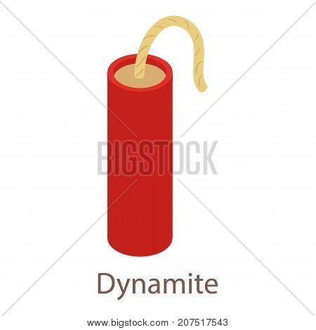 Dynamite icon. Isometric illustration of dynamite icon for web