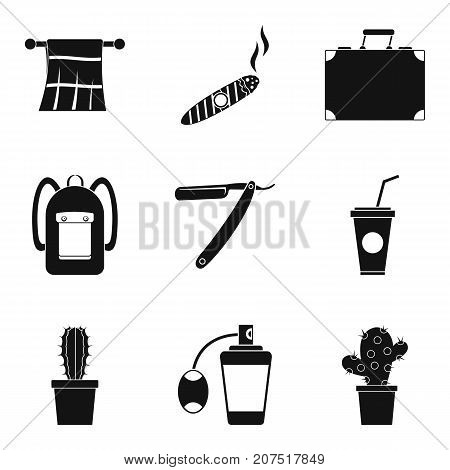 Prickly icons set. Simple set of 9 prickly vector icons for web isolated on white background