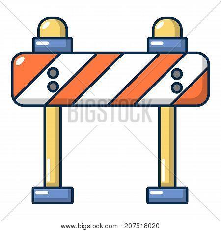 Road block icon. Cartoon illustration of road block vector icon for web