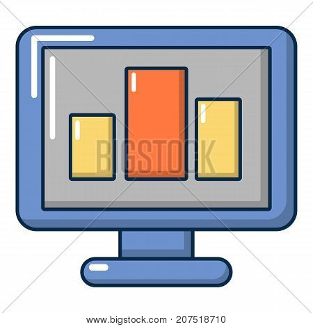 Monitor icon. Cartoon illustration of monitor vector icon for web