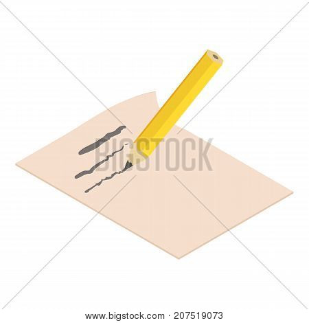 Write pencil icon. Isometric illustration of write pencil icon for web