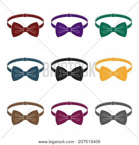 Bow tie icon in black design isolated on white background. Hipster style symbol stock vector illustration.